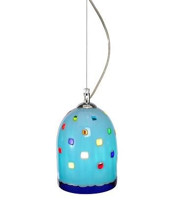 Voltolina - Meg - Sky Blue Murano Handmade Glass Pendant Lamp