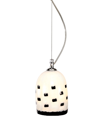 Meg B&W - Black And White Murano Handmade Glass Pendant Lamp