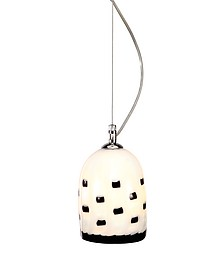 Meg B&W - Black And White Murano Handmade Glass Pendant Lamp  - Voltolina