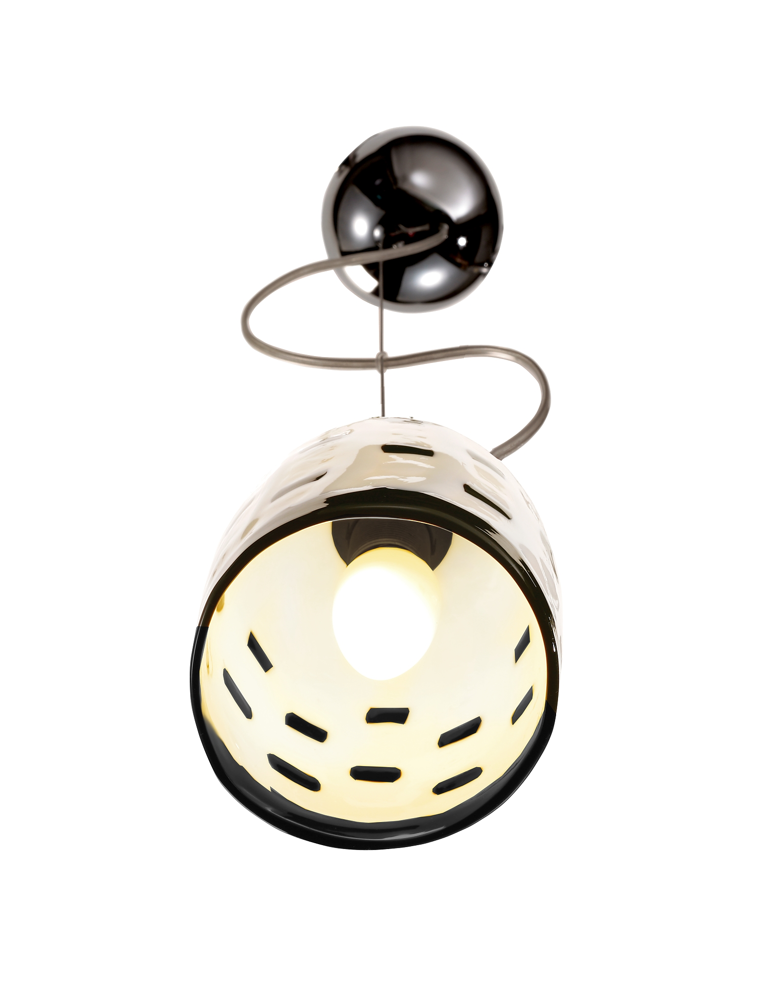 Meg B&W - Black And White Murano Handmade Glass Pendant Lamp от Forzieri.com INT