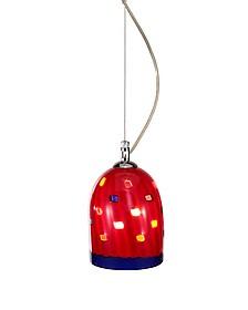 Meg - Red Murano Handmade Glass Pendant Lamp  - Voltolina