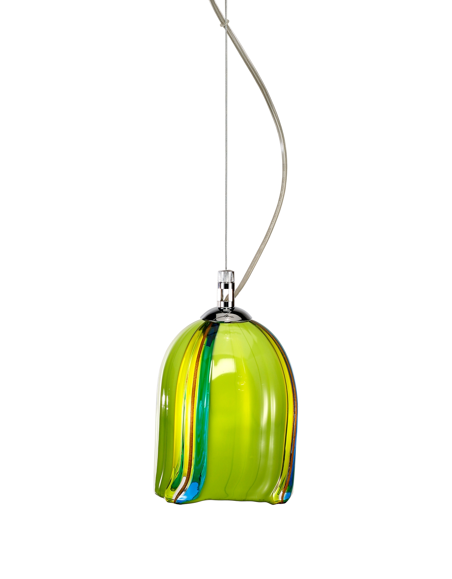 Voltolina Designer Decor & Lighting, Pistacchio - Murano Handmade Glass Pendant Lamp