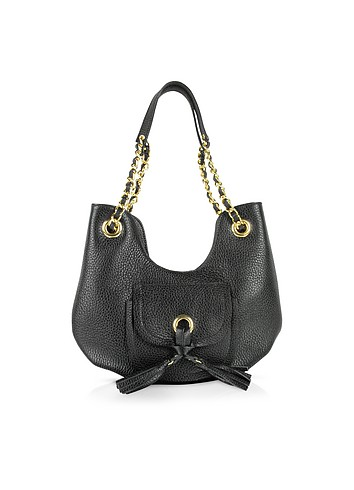 Vangi Front Pocket Grained Leather Mini Bag