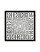 Black & White Signature Twill Silk Square Scarf - Valentino