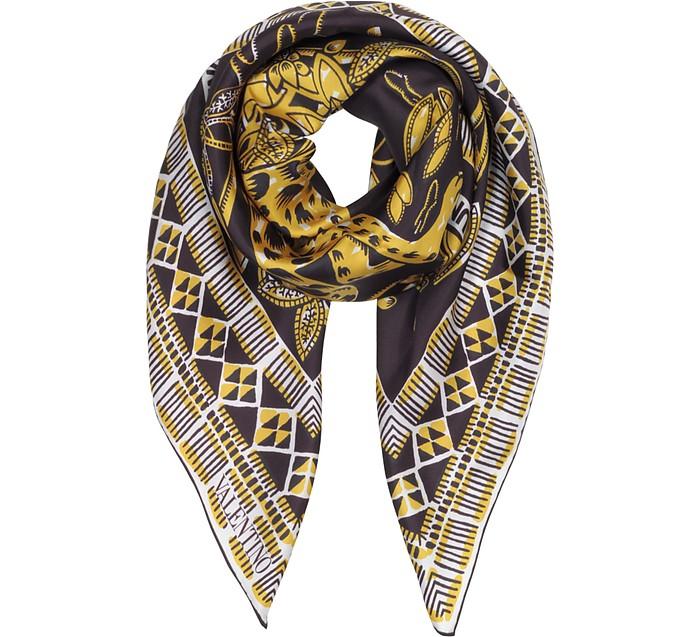Jaguar Print Silk Foulard - Valentino