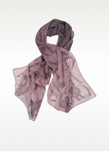 Foulard en soie imprimé avec logo - Valentino