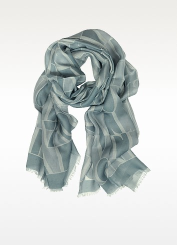 All Over Signature Modal Long Scarf - Valentino
