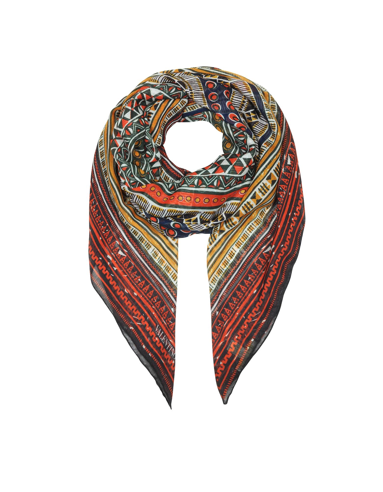 Tribal Ribbons Cashmere & Silk Shawl