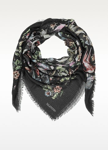 Roman Safari Cashmere and Silk Shawl - Valentino