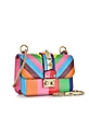 1973 Lock Chevron Leather Mini Shoulder Bag  - Valentino