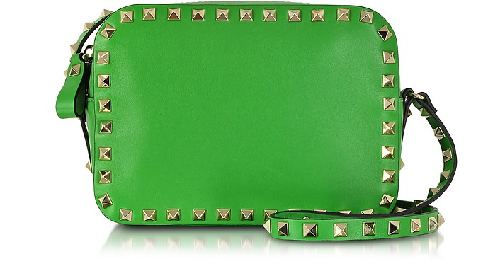 Rockstud Green Leather Crossbody Bag - Valentino