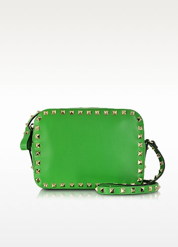 Rockstud Green Leather Crossbody Bag - Valentino