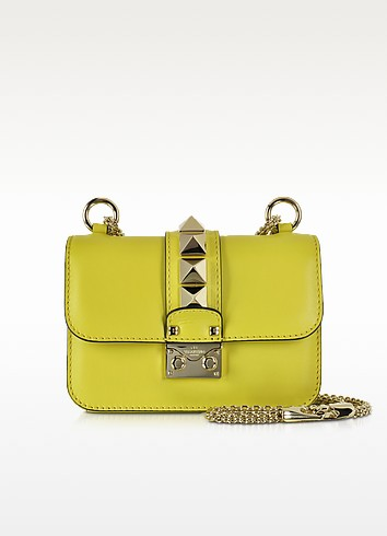 Avocado Leather Mini Chain Crossbody Bag - Valentino