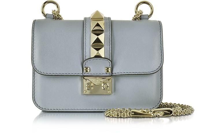 Grey Leather Mini Chain Crossbody Bag - Valentino