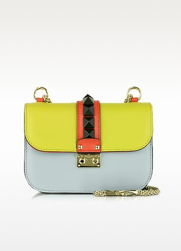 Multicolor Leather Small Shoulder Bag - Valentino