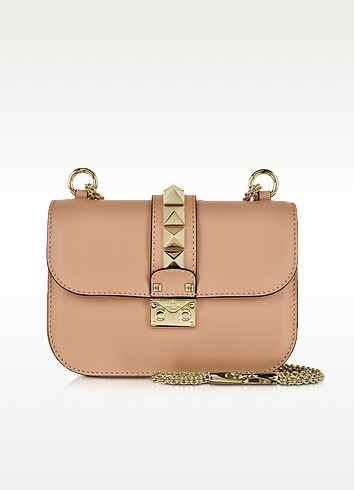 Skin Sorbet Leather Small Chain Crossbody Bag - Valentino