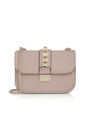 Lock Small Powder Pink Leather Chain Shoulder Bag