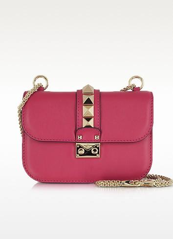 Rockstud Lock Cyclamin Leather Shoulder Bag - Valentino