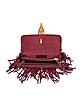 Gryphon Fringe Leather Flap Bag - Valentino