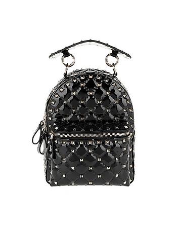 Rockstud Backpack Mini Spike Leather Black