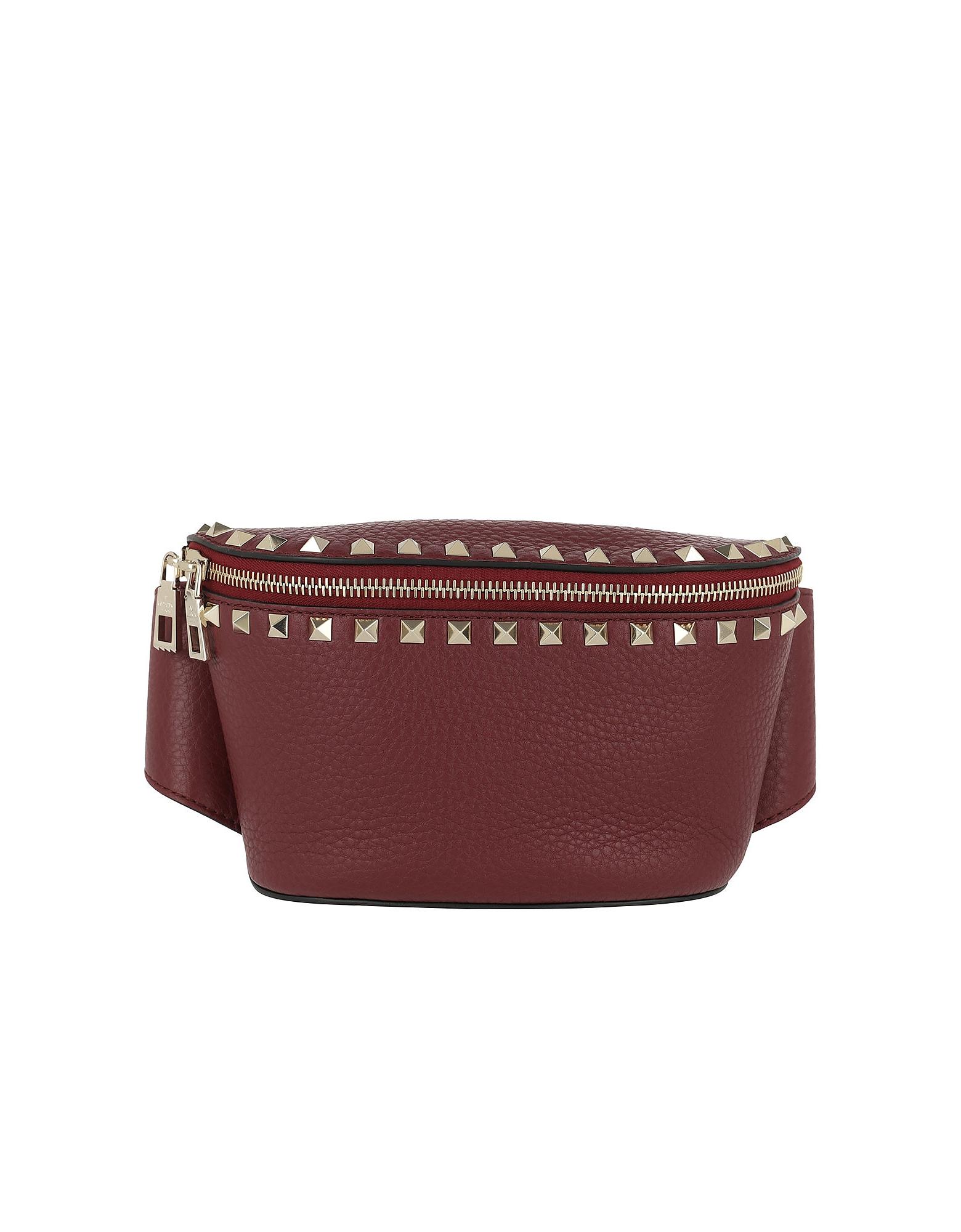 Rocksutd Belt Bag Calf Leather Maroon
