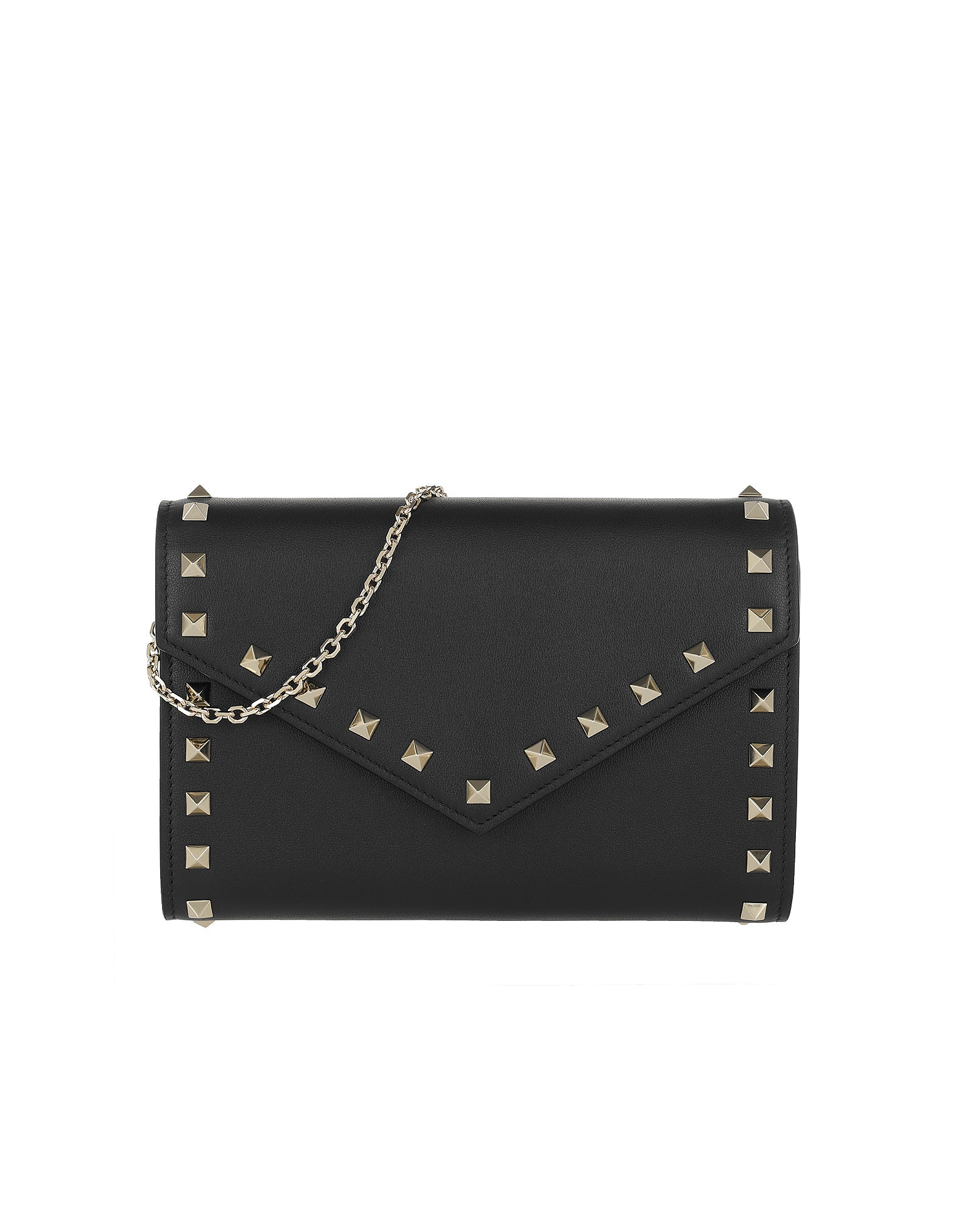 Rockstud Wallet Leather Black