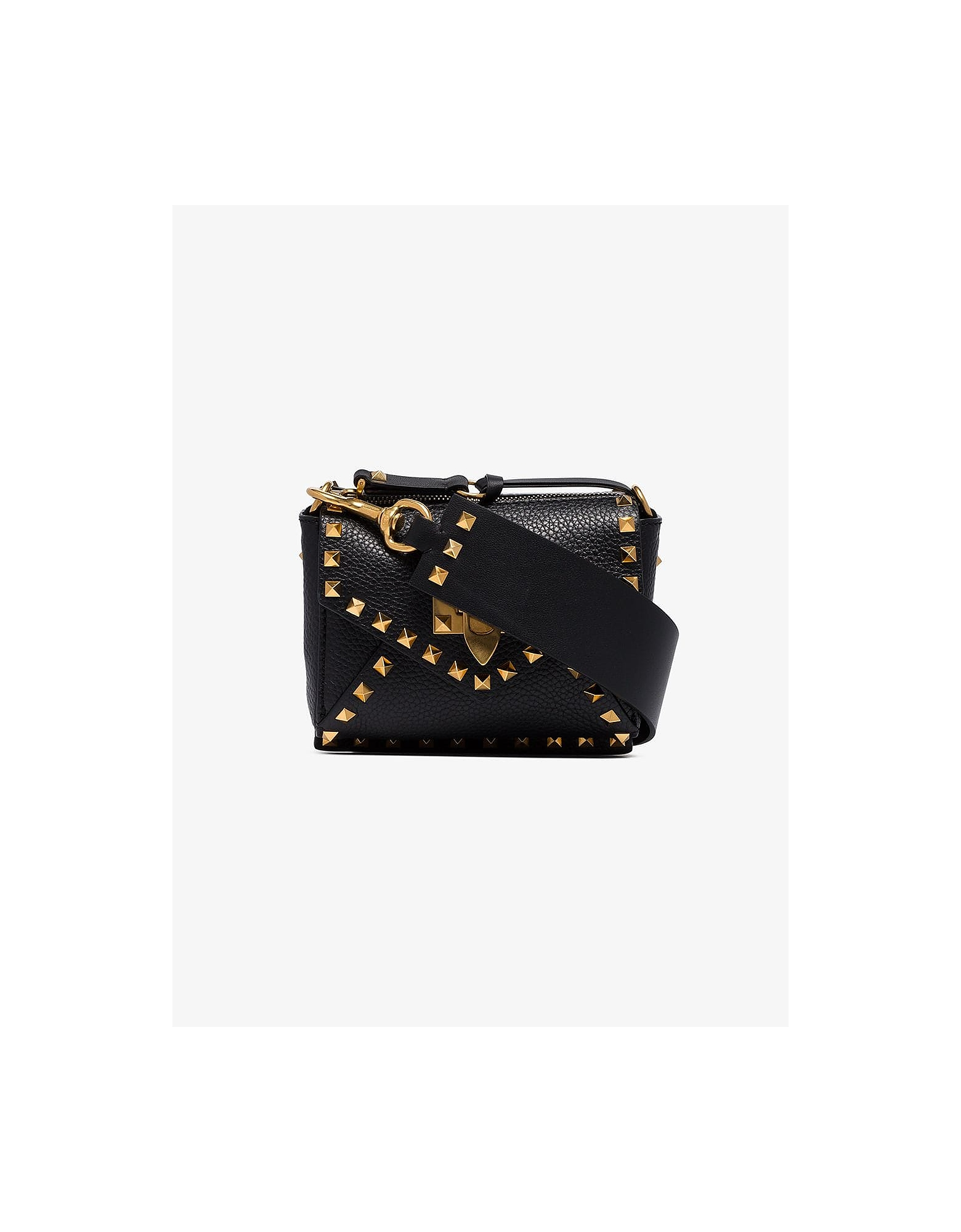 Valentino Designer Handbags, Black Garavani Rockstud Hype Mini Shoulder Bag