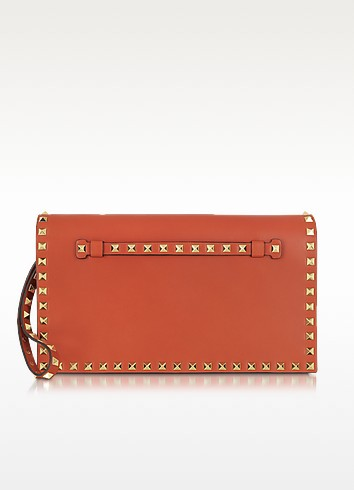 Rockstud Leather Clutch - Valentino