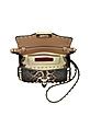 Rockstud Leopard Print Haircalf Crossbody Bag - Valentino