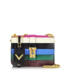 My Rockstud Blue & Multicolor Leather Chain Shoulder Bag - Valentino