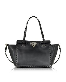 Rockstud Noir Small Leather Tote - Valentino