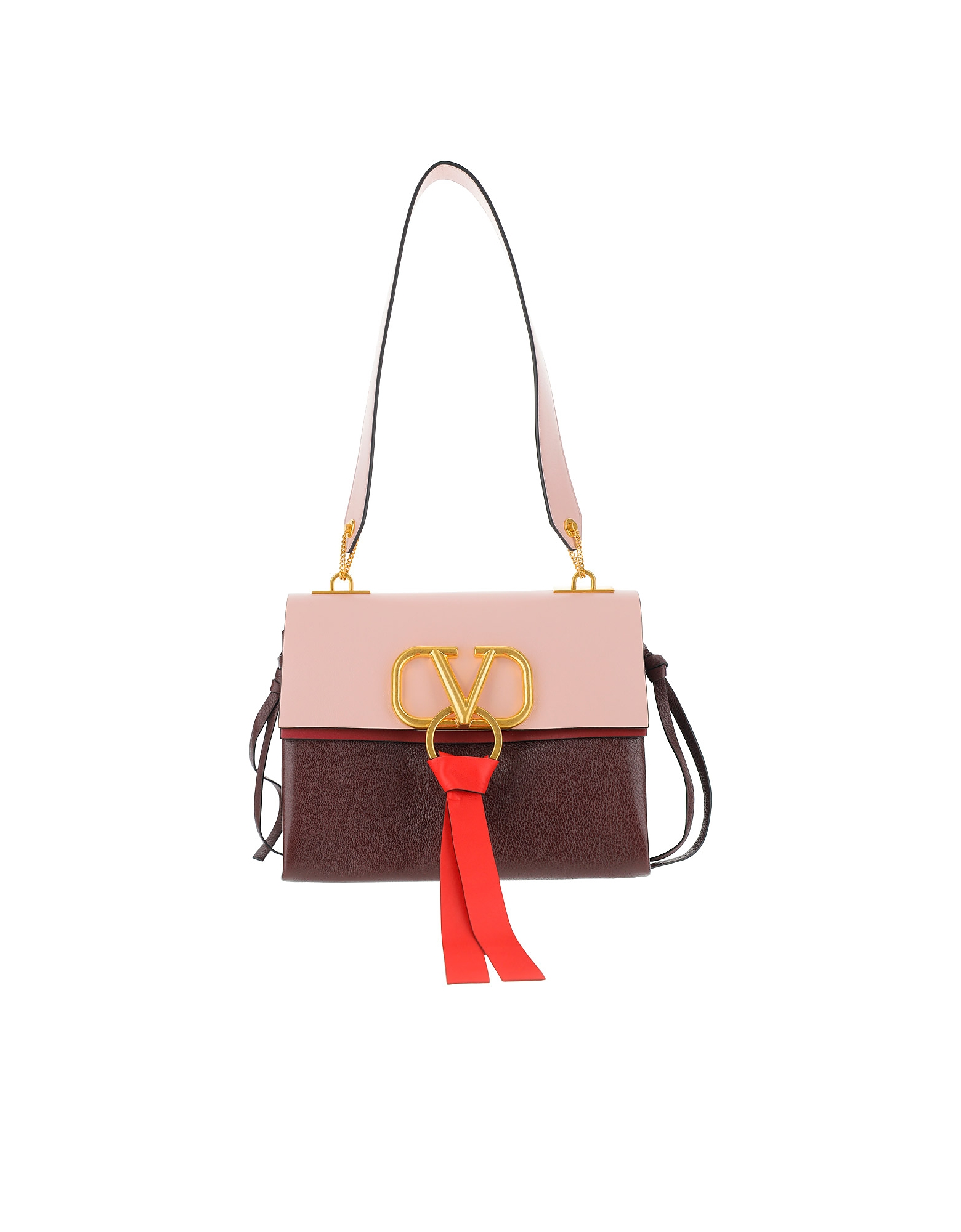 Valentino Designer Handbags, Color Block Vring Shoulder Bag