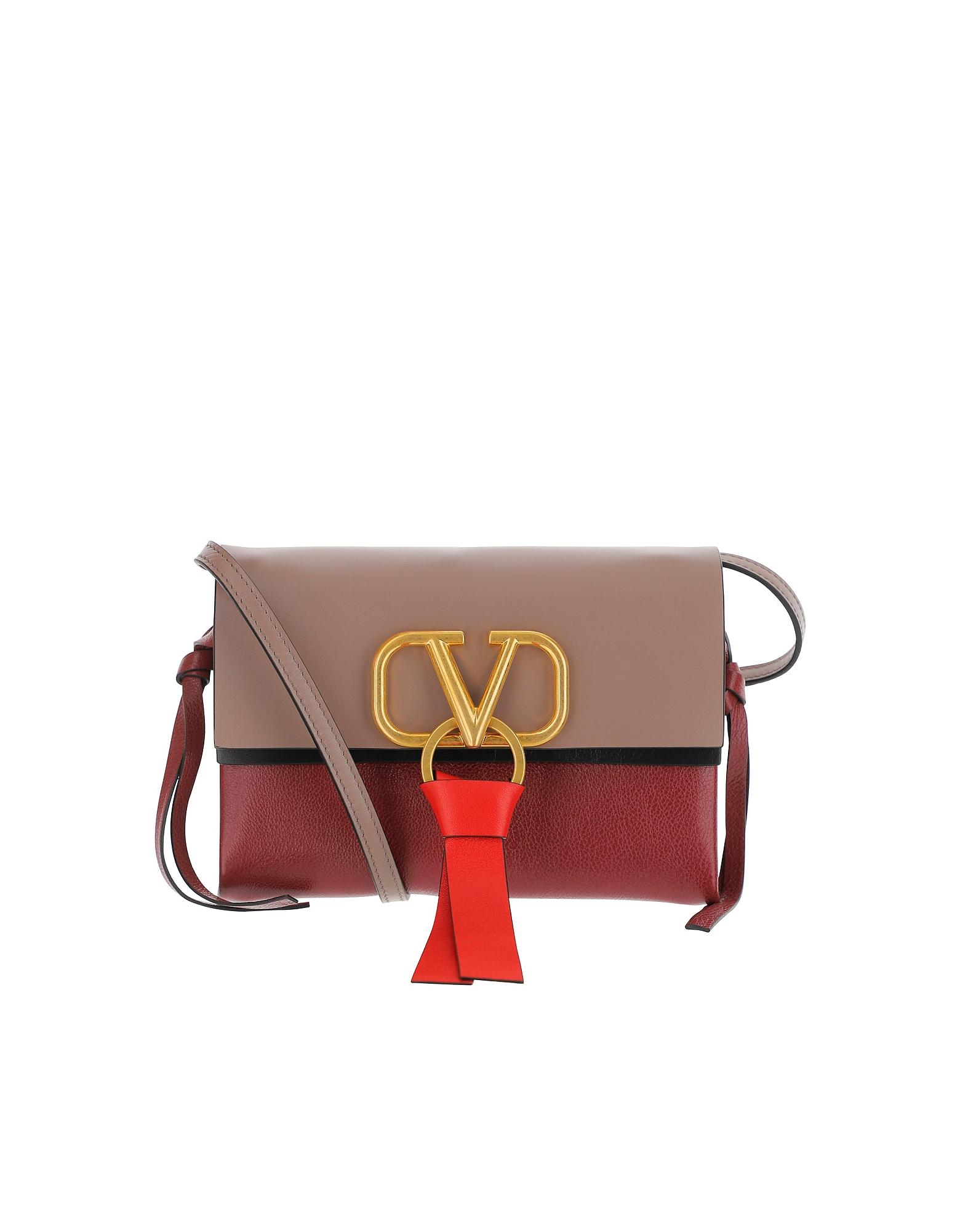 Valentino Designer Handbags, Color Block Vring Crossbody Bag