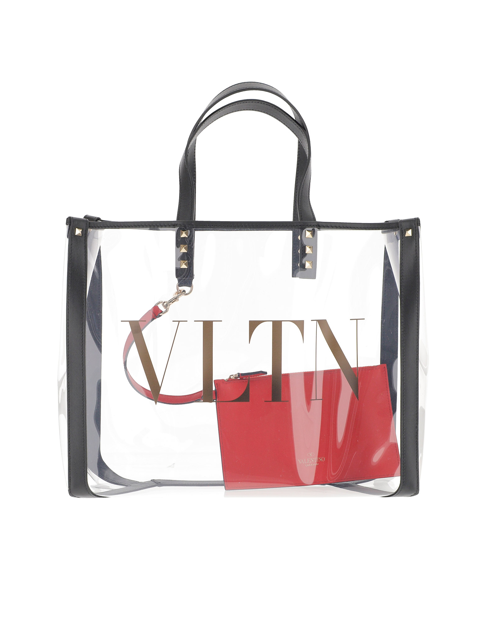 Valentino Designer Handbags, VLTN Transparent Tote Bag