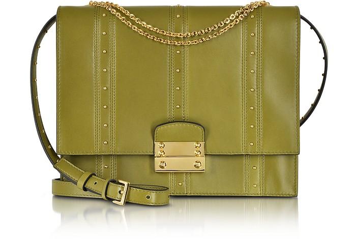 Olive Green w/Gold Studs Shoulder Bag - Valentino
