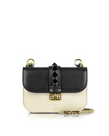 Small Black & Light Ivory Shoulder Bag - Valentino
