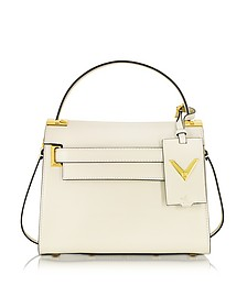 My Rockstud Small Light Ivory Leather Single Handle Bag - Valentino