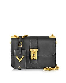 My Rockstud Black Leather Chain Shoulder Bag - Valentino