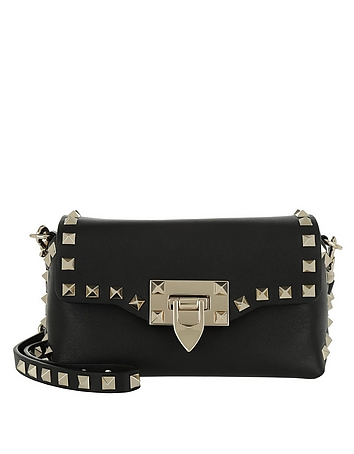 Rockstud Mini Crossbody Bag Black