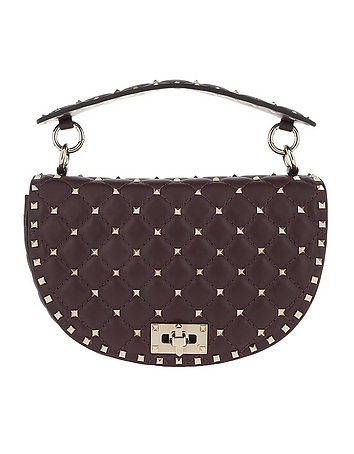 Rockstud Half Round Spike Crossbody Bag