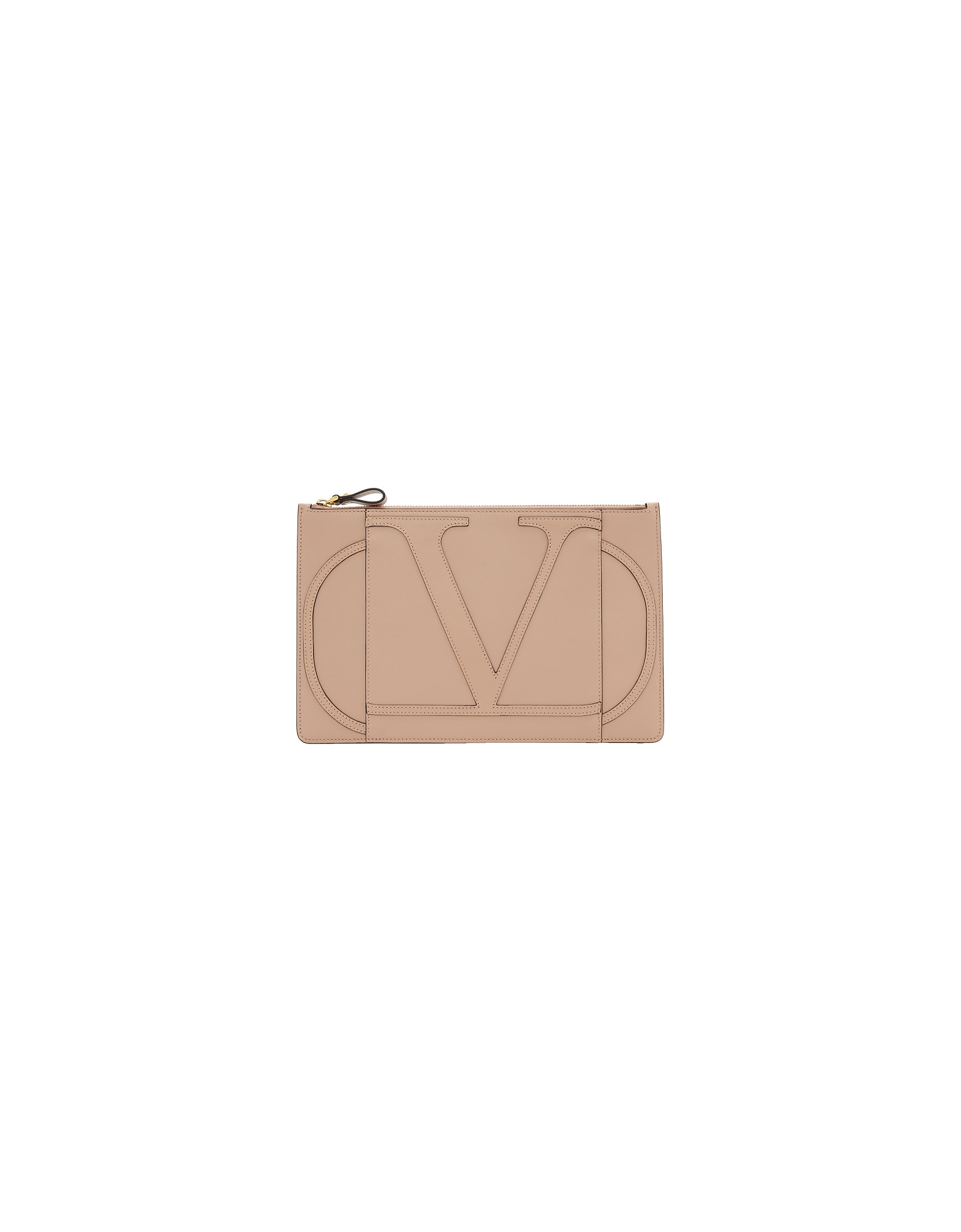 Valentino Designer Handbags, Pink Valentino Garavani Large VLogo Pouch