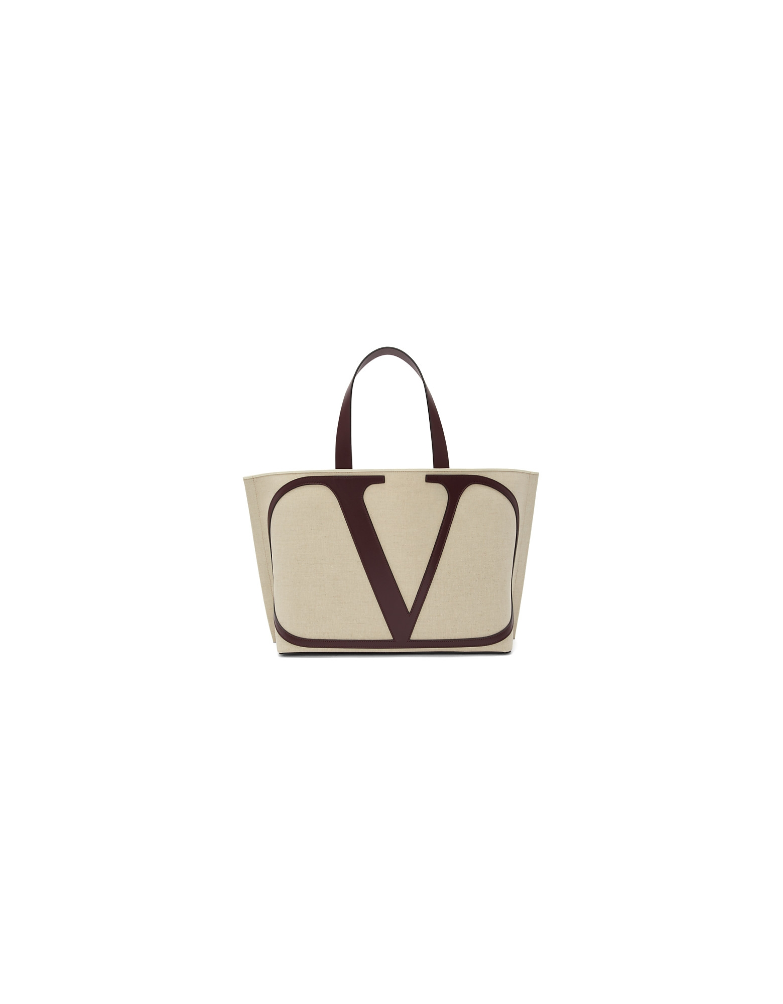 Valentino Designer Handbags, Beige and Purple Valentino Garavani Large VLogo Beach Tote
