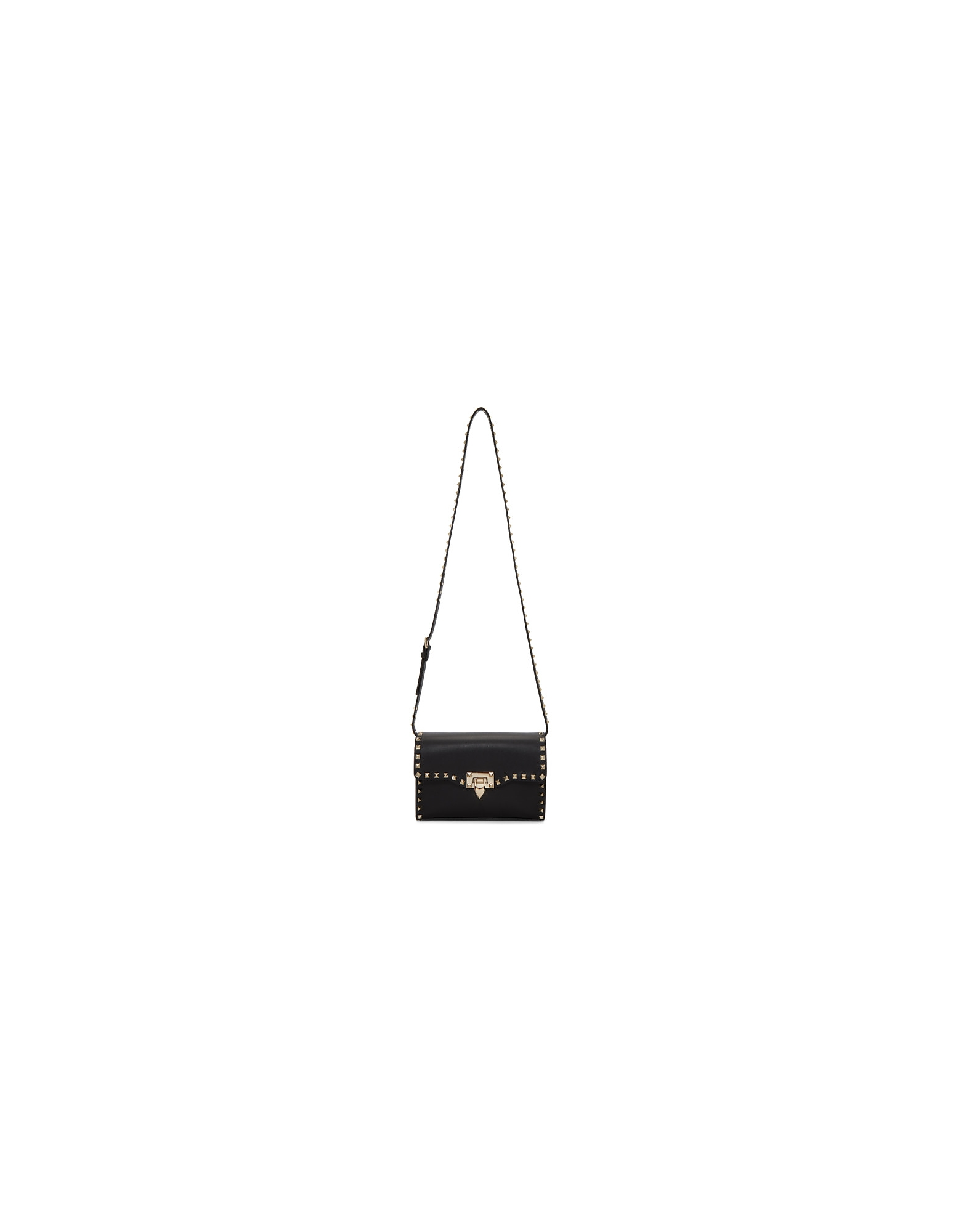 Valentino Designer Handbags, Black Valentino Garavani Medium Rockstud Flap Bag