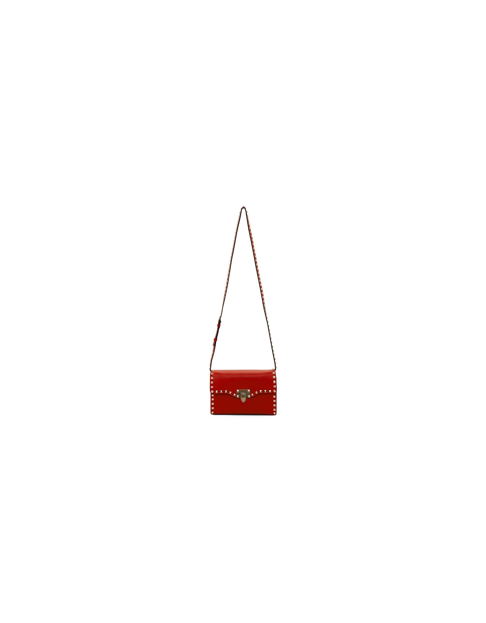 Valentino Designer Handbags, Red Valentino Garavani Medium Rockstud Flap Bag