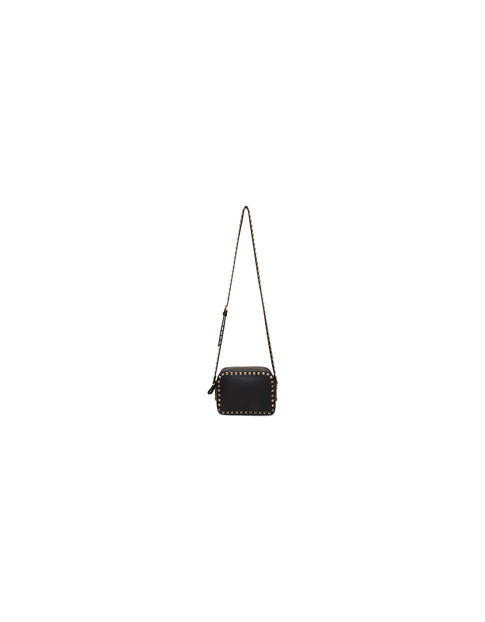 Valentino Designer Handbags, Black Valentino Garavani Rockstud Crossbody Bag