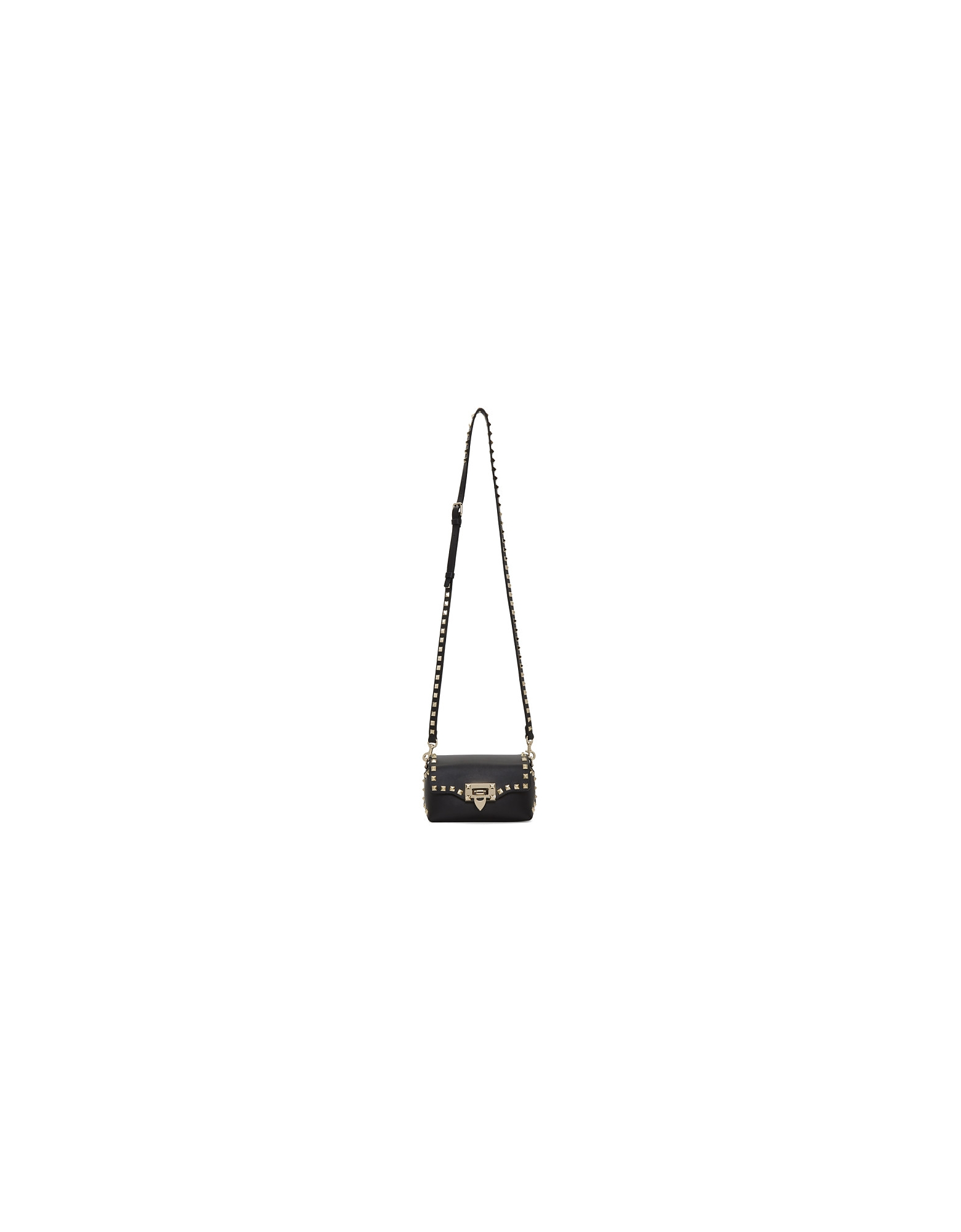 Valentino Designer Handbags, Black Valentino Garavani Mini Rockstud Crossbody Bag