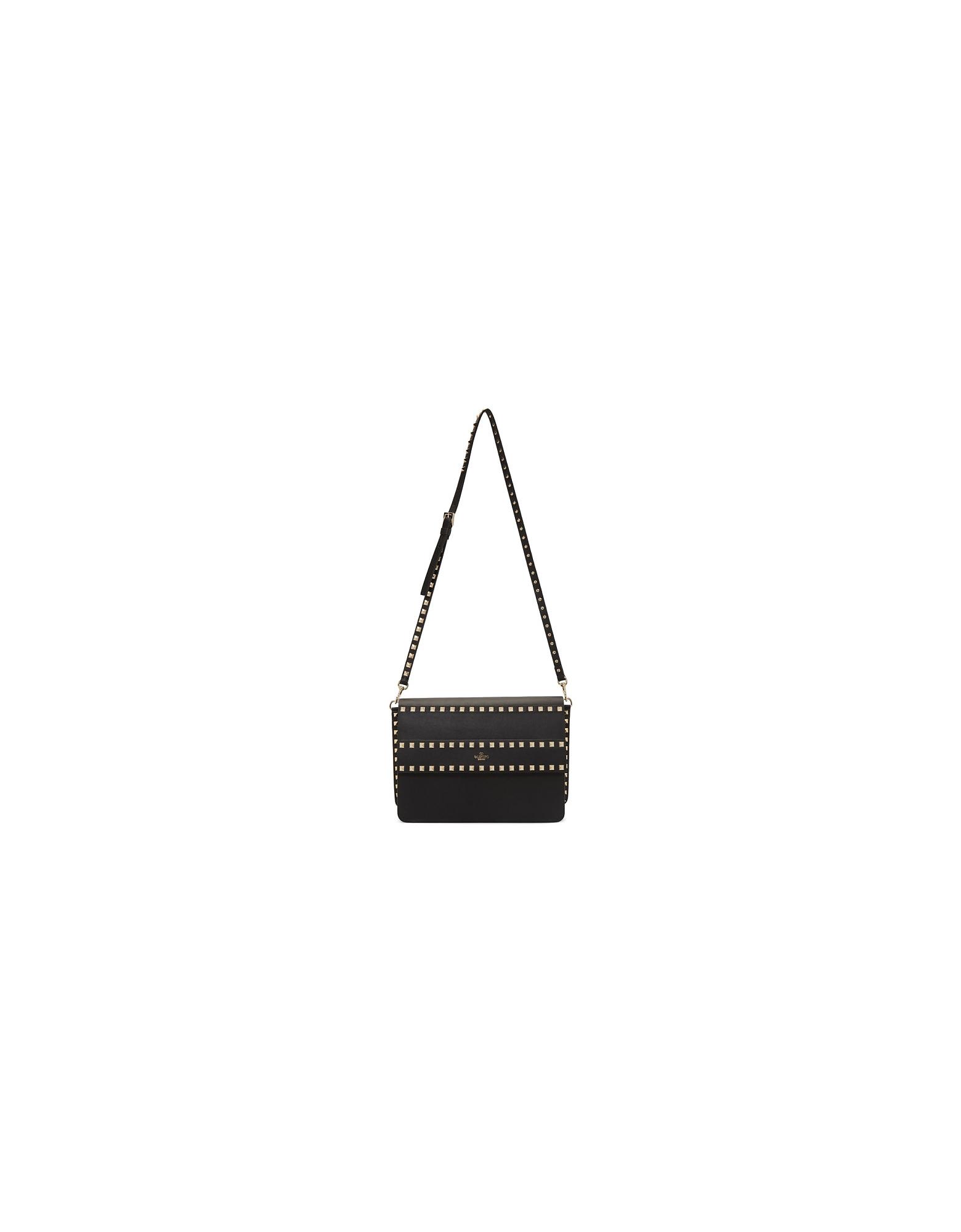 Valentino Designer Handbags, Black Valentino Garavani Rockstud Shoulder Bag