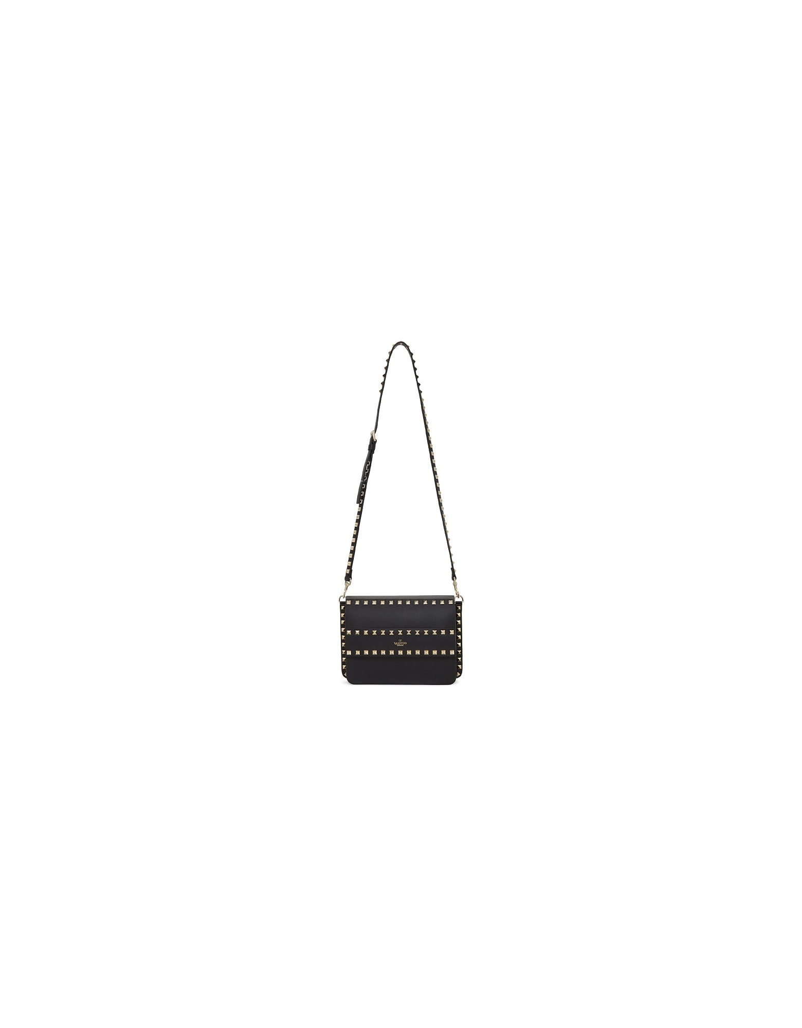 Valentino Designer Handbags, Black Valentino Garavani Small Rockstud Shoulder Bag