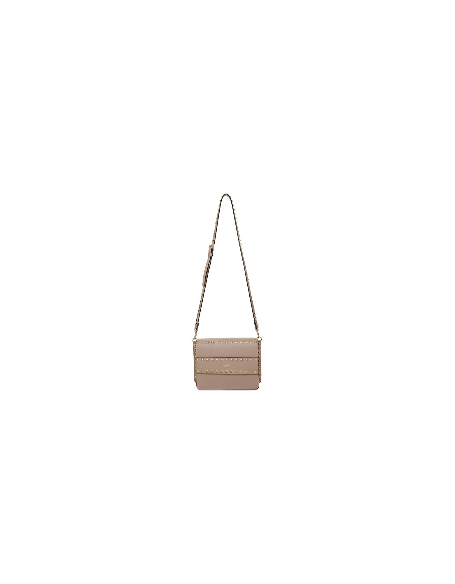Valentino Designer Handbags, Pink Valentino Garavani Small Rockstud Shoulder Bag