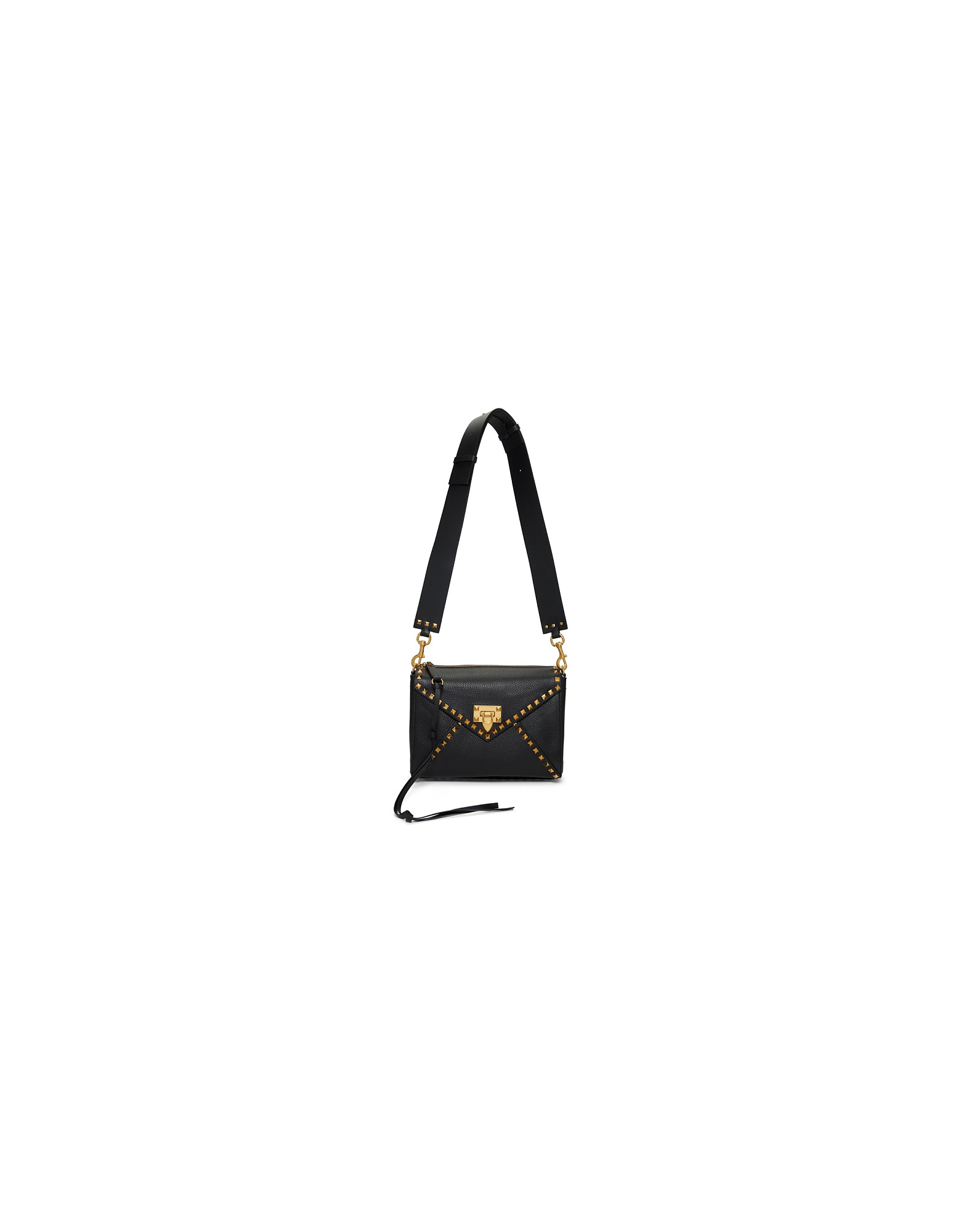 Valentino Designer Handbags, Black Valentino Garavani Medium Rockstud Hype Shoulder Bag
